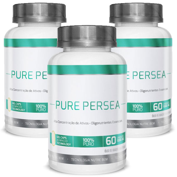 Pure Persea | Óleo de Abacate 100% Puro | Emagrecedor - 03 Potes  - LA Nature