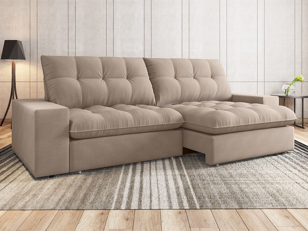 Sofá 4 Lugares Net Confort Assento Retrátil e Reclinável ...