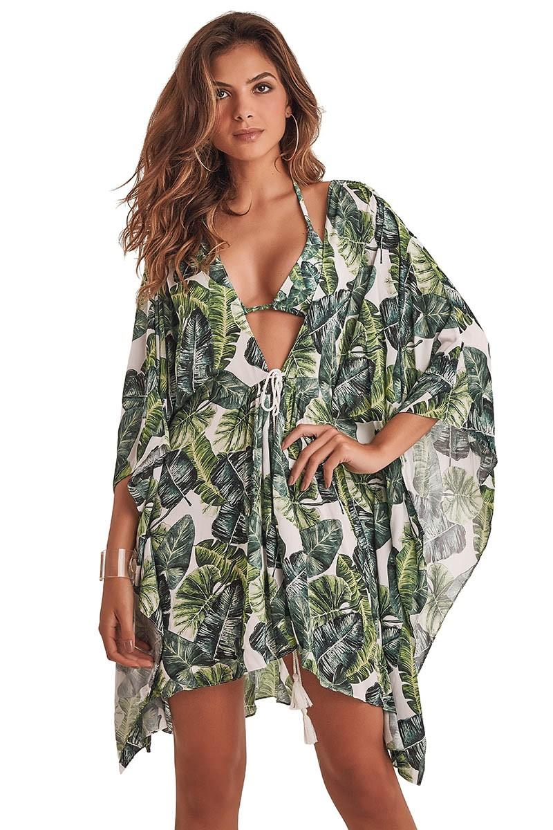 Kimono Malaga Estampa Folhagem