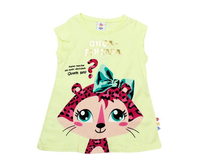 Camiseta Feminina Onça Pintada Zig Zig Zaa