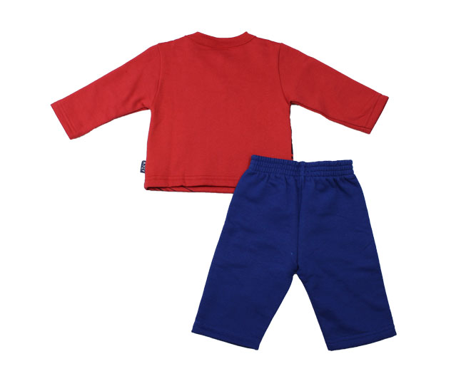 Conjunto de Moletom Infantil Super Motor Vermelha Carros