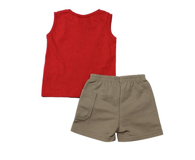 Conjunto Regata Infantil Brandili Vermelho Estampado