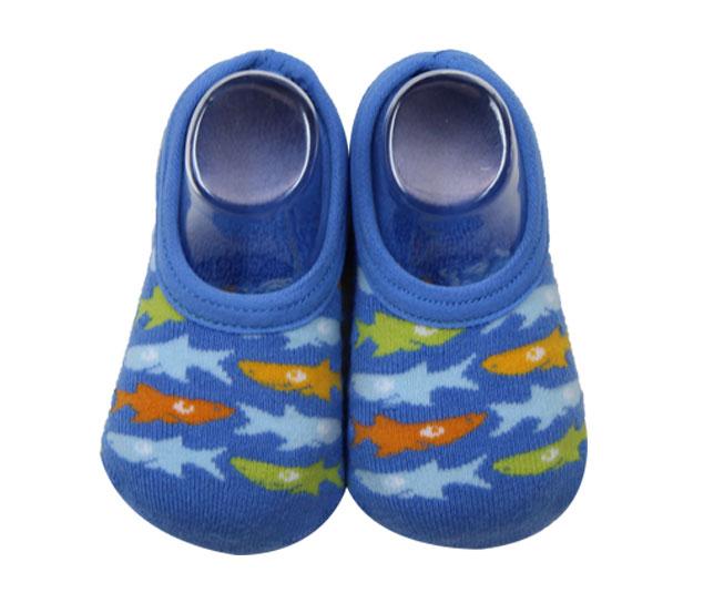 Meia Azul com Tubarões Coloridos Lupo Baby