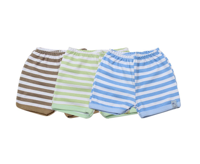 Short Infantil Listrado Varias Cores Bicho Molhado