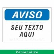 Placa AVISO Personalizada - Clace 1 UN