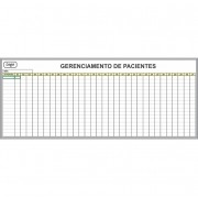 Quadro Branco para Gerenciamento de Pacientes (Modelo 02) - Sob Medida