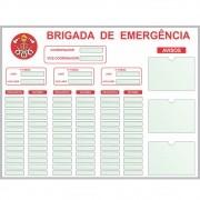 Quadro Brigada de Emergência - 130 x 100 cm (L x A) - Clace 1 UN