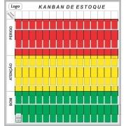 Quadro Kanban de Estoque com Suporte - Sob Medida