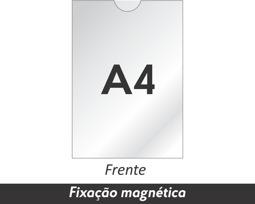 Display A4 em Acrílico com Fixação Magnética - Clace 1 UN
