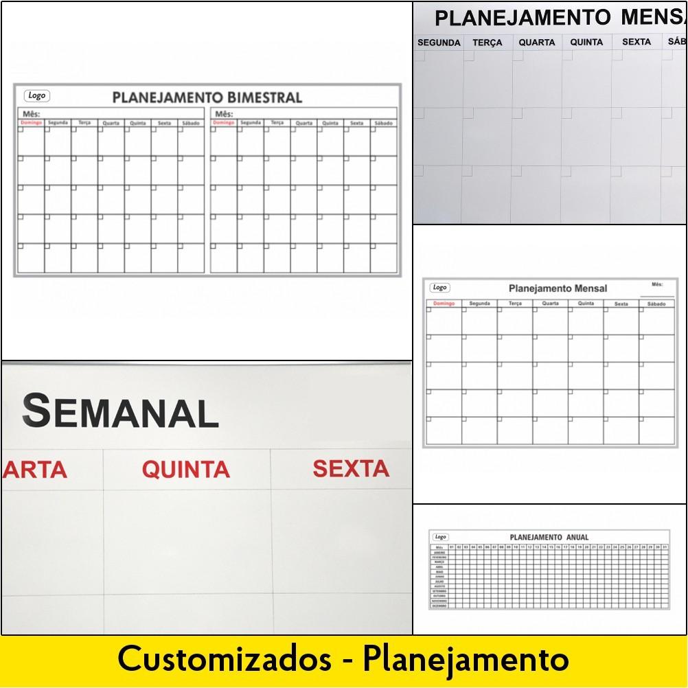 Quadros para Planejamento: Mensal, Bimestral ou Anual - Customizados