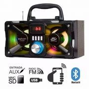 Caixa de Som Bluetooth 8 Watts Rms Exbom CS-M224BT c/ Visor SD/USB/FM
