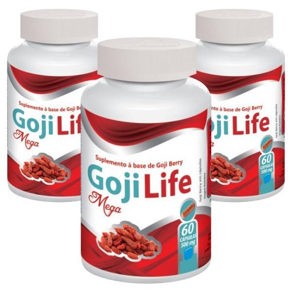 Goji Life - Emagrecedor - Original | 500mg - 03 potes  - Natural Show - Produtos Naturais, Suplementos e Cosméticos
