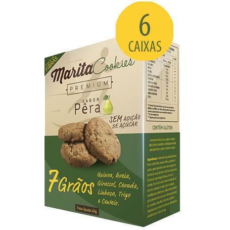 Marita Cookies Premium Pera - 40g (6 Caixas)  - Natural Show - Produtos Naturais, Suplementos e Cosméticos