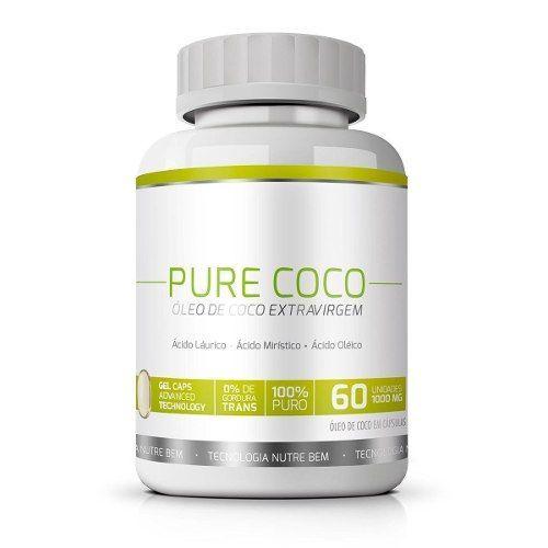 Pure Coco|Óleo de Coco Extra Virgem 100% Puro|Emagrecedor - 01 Pote  - Natural Show - Produtos Naturais, Suplementos e Cosméticos