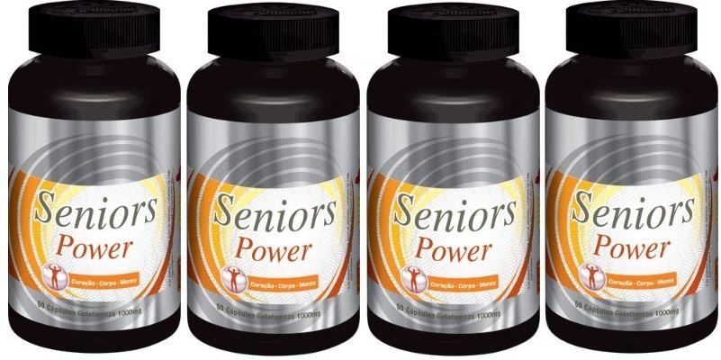 Seniors Power - Original -1000mg | Estimulante Sexual Masculino | 04 Potes  - Natural Show - Produtos Naturais, Suplementos e Cosméticos
