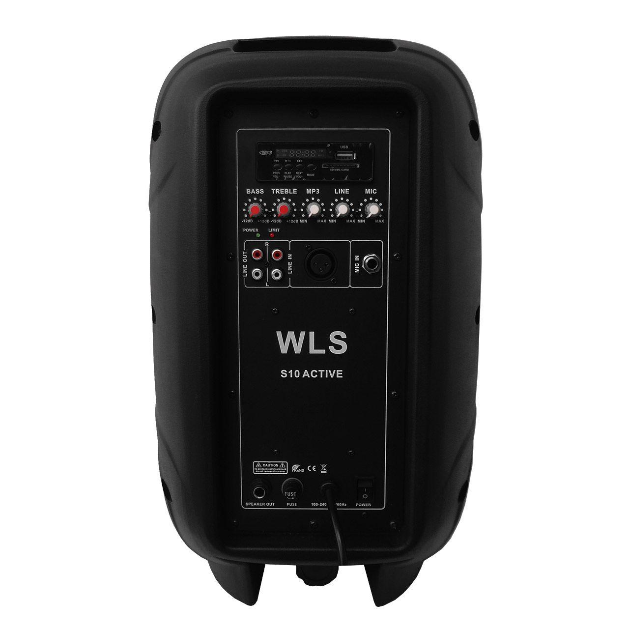 Kit Caixa de Som Ativa Passiva Wls S10 Bluetooth 250w + Cabo