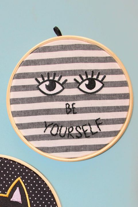 Bordado Decor Olhos Be Yourself