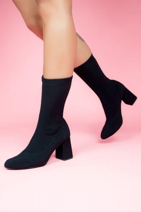 Bota Sock Meia Stretch Preto