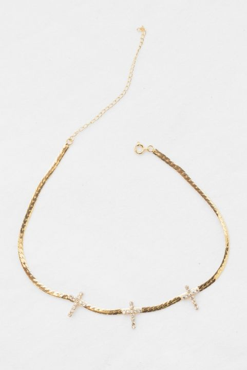 Choker Cruz Strass