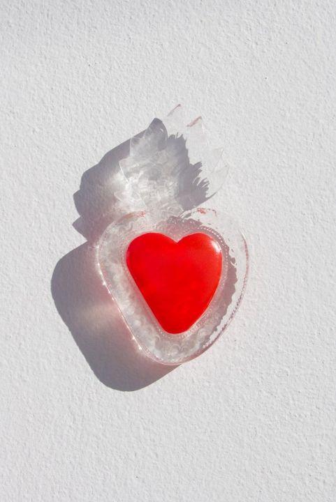 Coração Decor Flames Pequeno