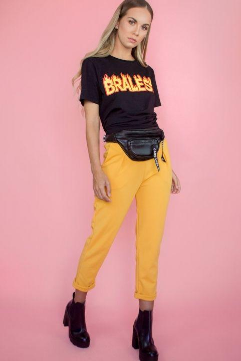 T-shirt BRALESS Unisex Preta
