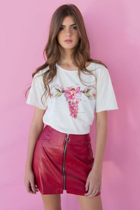 T-shirt Utero Femme - Off-White