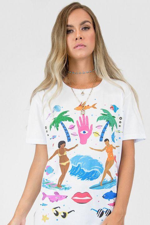 T-shirt Girls Surf Too