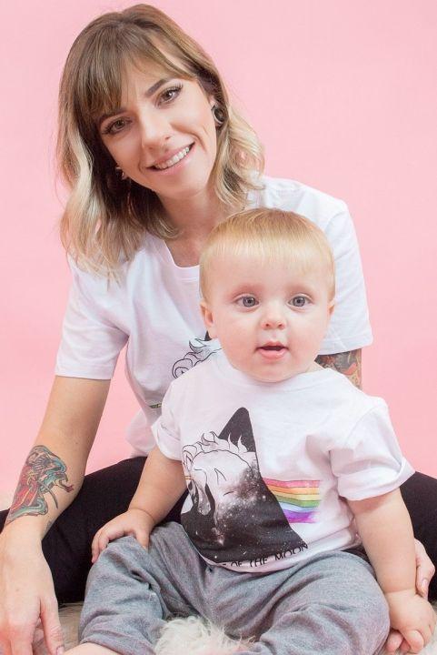 T-Shirt Infantil Bright Side - Branca