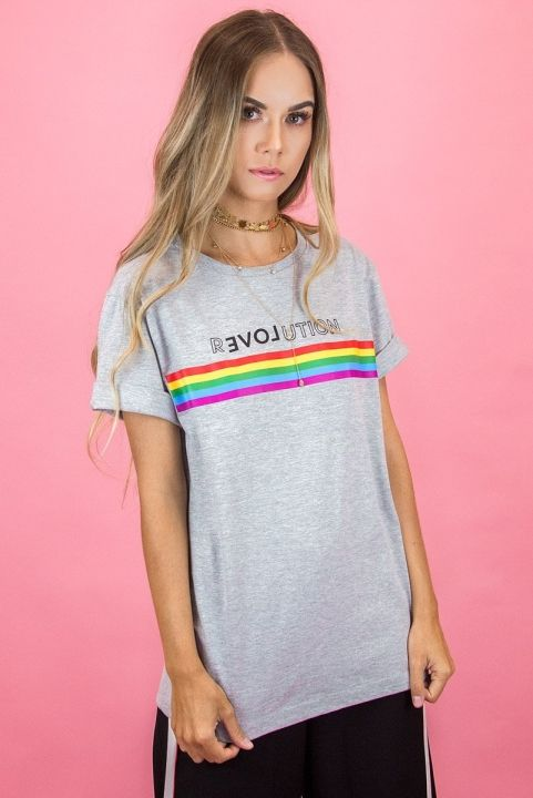T-shirt Unisex Arco-Iris Revolution