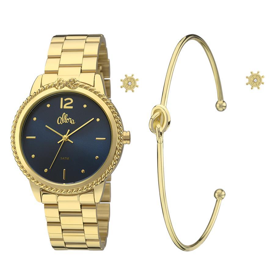 880c31bb65395 Relógio Allora Feminino Ref  Al2035fdq k4a Kit - Relógios Web Shop