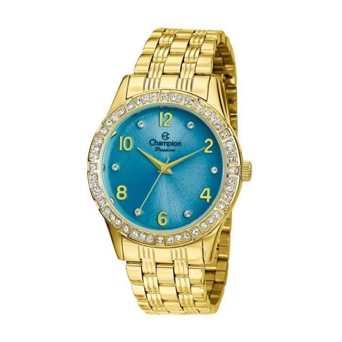 83558b72f4b Relógio Champion Feminino Ref  Cn29285f Casual Dourado
