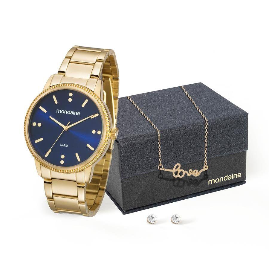 efbf2ac39a1 Relogio Mondaine Feminino Ref  53510lpmvde1 Dourado + Semijóia - Relógios  Web Shop