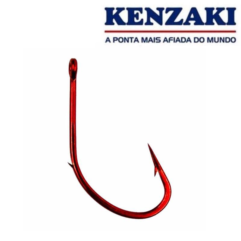 Anzol Kenzaki Maruseigo Red Nº 18 - 10 Peças