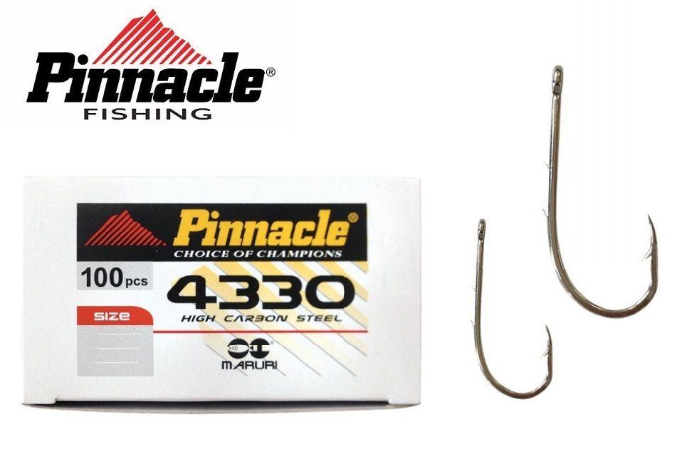 Anzol Pinnacle 4330 Nº 4/0 - Com Farpas - 100 Peças