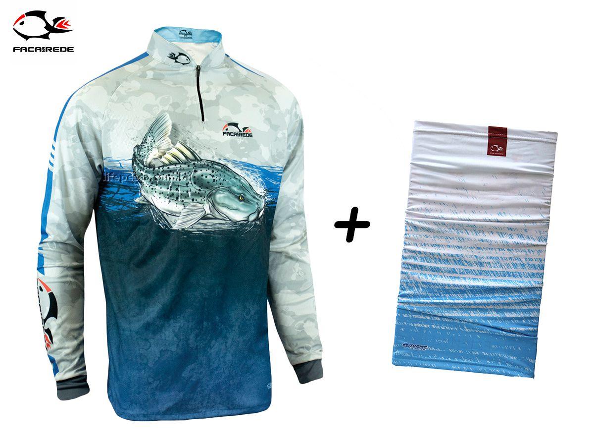 Camiseta de Pesca Faca na Rede EVO Pintado 19/20 + Bandana TB19 Cristal