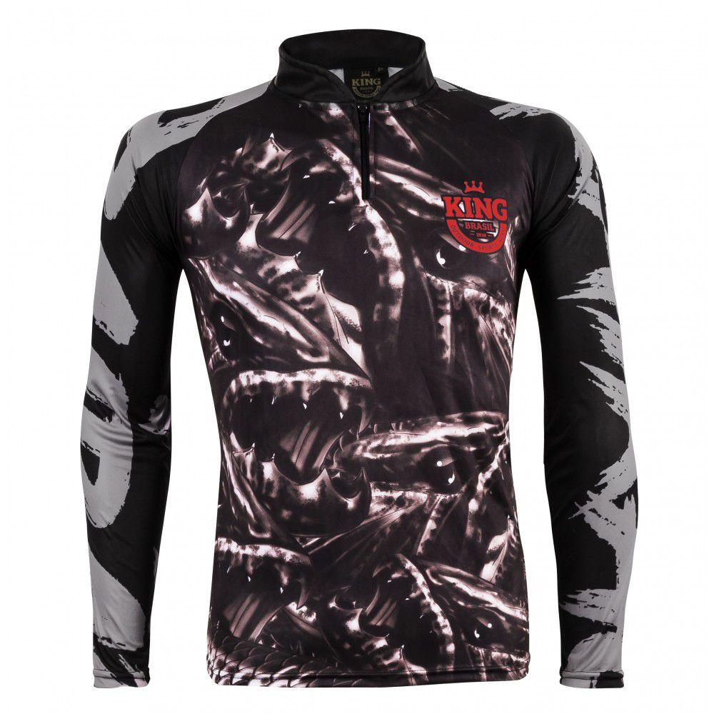 Camiseta De Pesca King Proteção Solar Uv Atack 06 - Traira