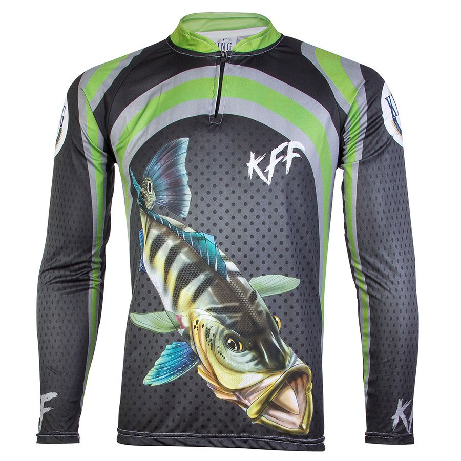Camiseta De Pesca King Proteção Solar Uv KFF10 - Tucunaré