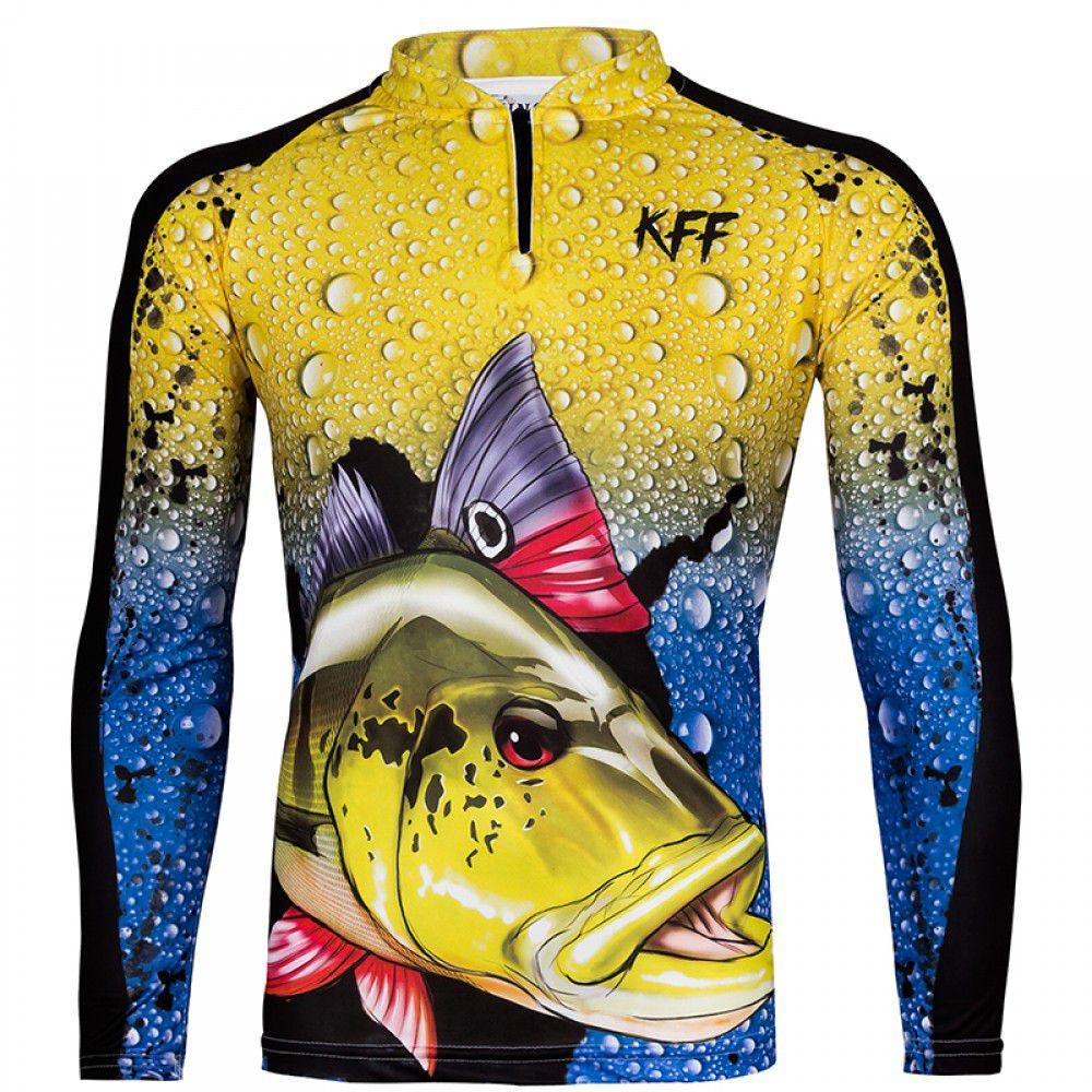Camiseta De Pesca King Proteção Solar Uv KFF60 - Tucunaré