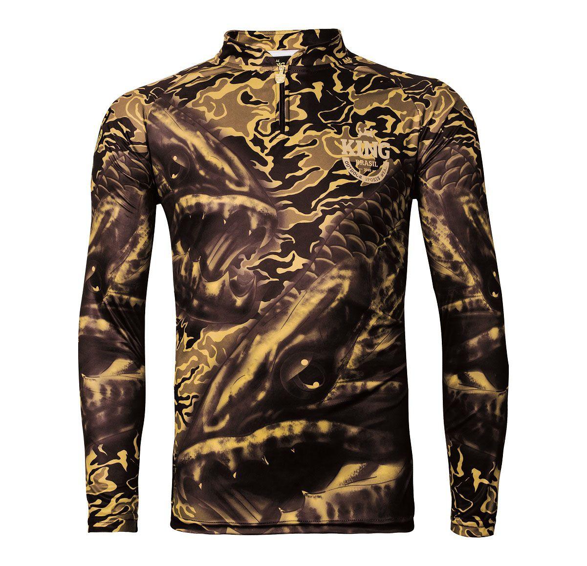 Camiseta De Pesca King Proteção Solar Uv Viking 04 - Trairão
