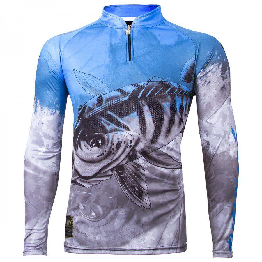 Camiseta De Pesca King Proteção Solar Uv Viking 06 - Tucunaré
