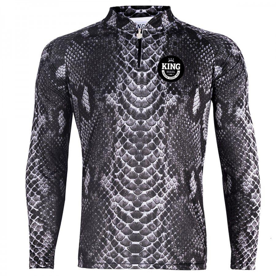 Camiseta De Pesca King Proteção Solar Uv Viking 17 - Pele Cobra