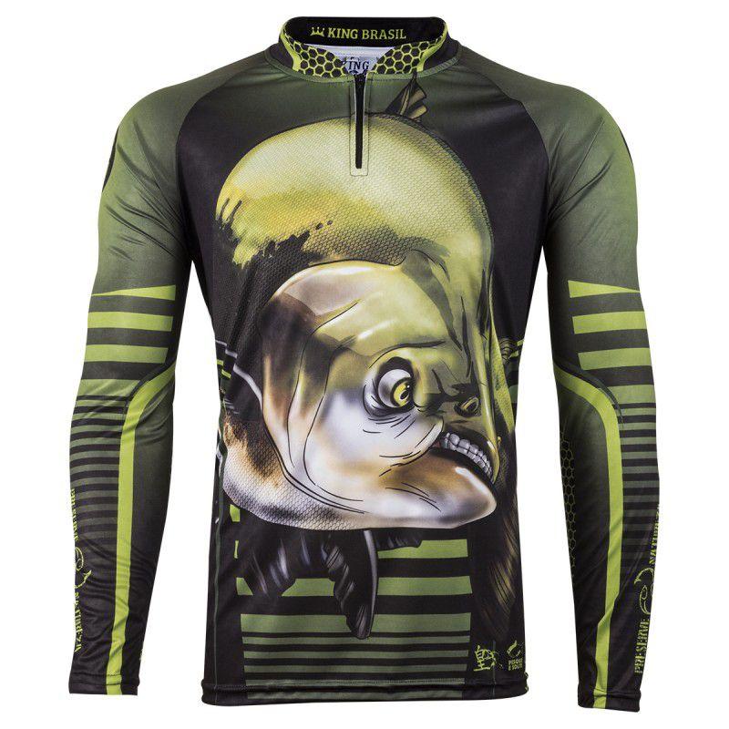 Camiseta De Pesca King Proteção Solar Uv Viking 19 - Tamba