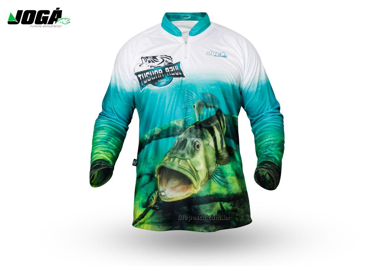 Camiseta de Pesca Proteção Solar UV 50+ Jogá - Tucunaré Azul