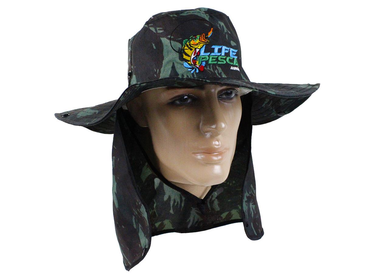 Chapéu Com Protetor De Nuca LIFE PESCA - Várias Cores