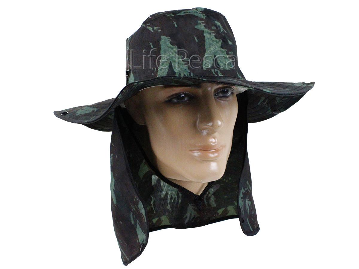 Chapéu Pescador C/ Protetor De Nuca - Várias Cores