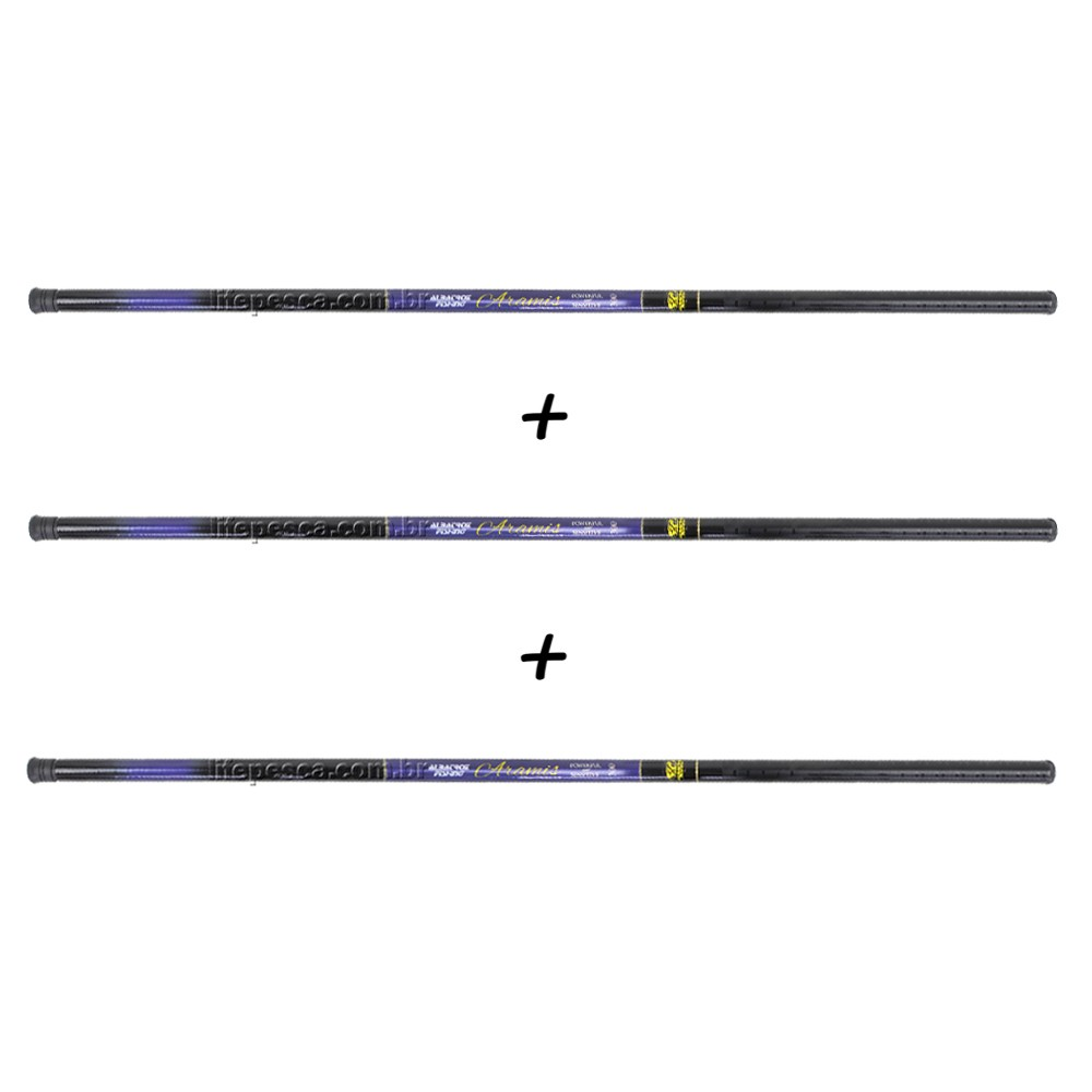 Kit 3 Varas Telescópicas Albatroz Fishing Aramis 1,80 Metros - 22% Carbono