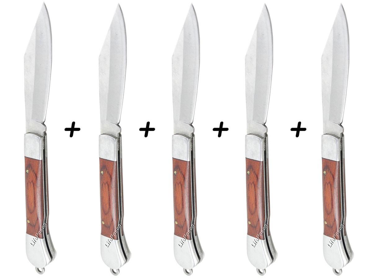 Kit 5 Canivetes Xingu XV3284 17,5cm - Cabo Madeira