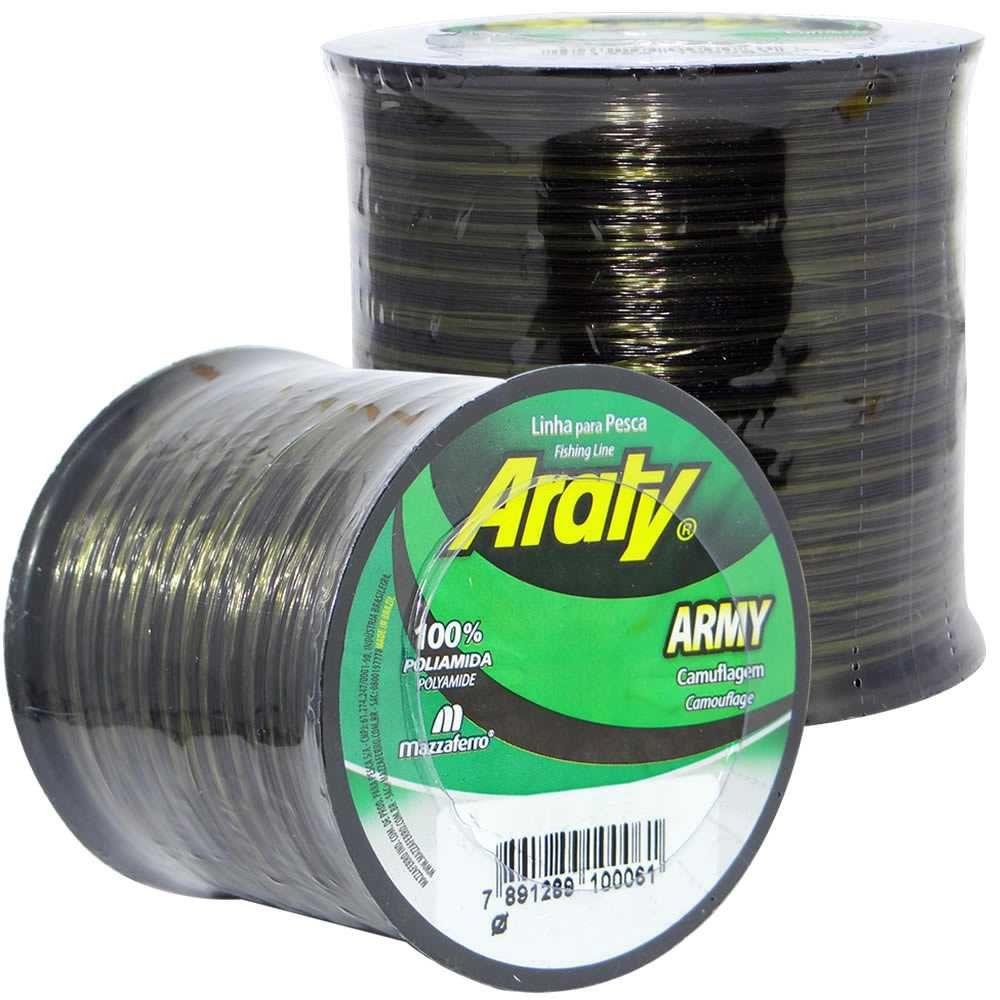 Linha de Monofilamento Araty Army Camuflada - Vários Tamanhos e Espessuras