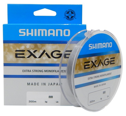 Linha Monofilamento Shimano Exage 0,35mm 22,90lbs/10,40Kg - 300 Metros