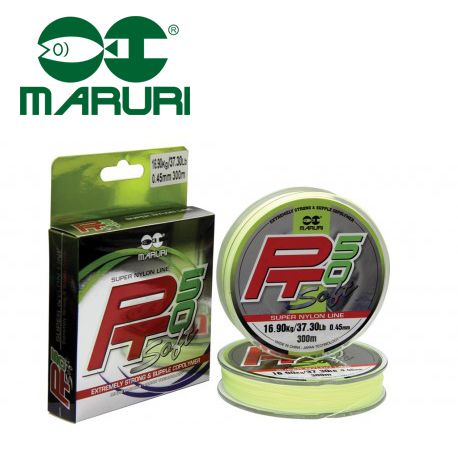 Linha PT50 Soft Super Nylon Maruri - 0,18mm 6,37lb/3kg - 300 Metros